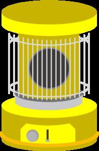 レトロな黄色のストーブ