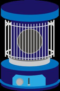 レトロな青色のストーブ