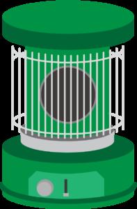 レトロな緑色のストーブ