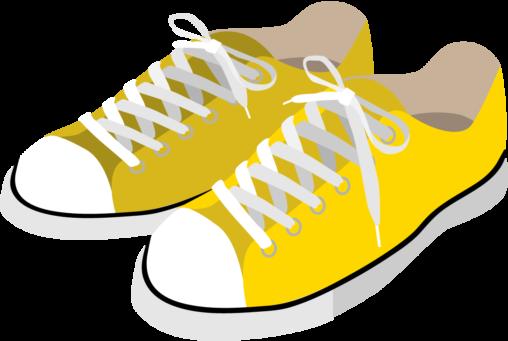 黄色のスニーカー
