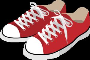 赤色のスニーカー