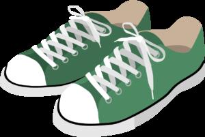 緑色のスニーカー