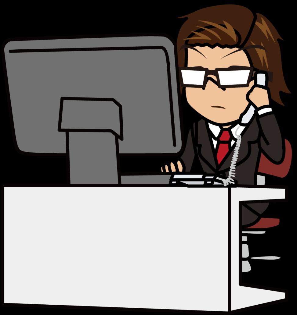 静かにパソコンの前で電話する社畜モドキ「うりぼぅ」